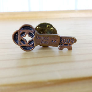 2009 United Way Collectible Pin Button ~Copper Key